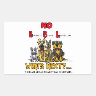 No B S L No Breed Specific Legislation Stickers