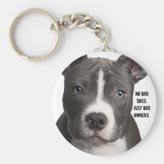 No Bad Dogs. Just Bad Owners Keychain