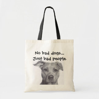 No bad dogs, just bad people tote bag
