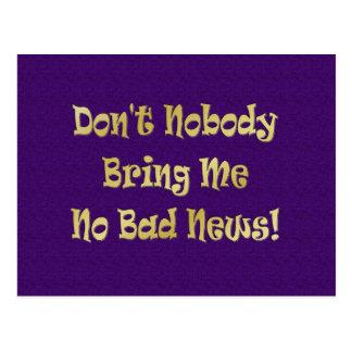"""No Bad News"" Postcard"