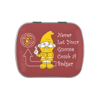 No Badgers For Gnomes Jelly Belly Candy Tin