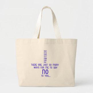 No Jumbo Tote Bag