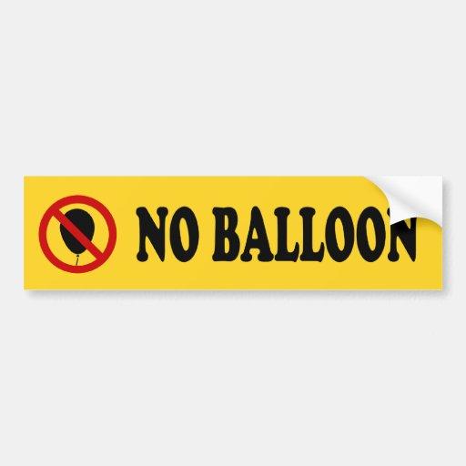 NO Balloon ⚠ Thai BTS Skytrain Sign ⚠ Bumper Stickers