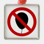 NO Balloon ⚠ Thai BTS Skytrain Sign ⚠ Christmas Ornament
