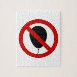 NO Balloon ⚠ Thai BTS Skytrain Sign ⚠ Jigsaw Puzzles