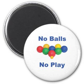 No Balls Bocce Ball 2 Inch Round Magnet