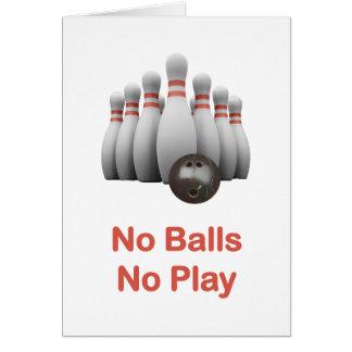 No Balls Bowling Card