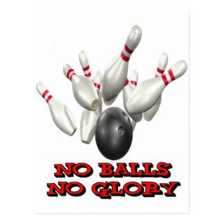 No Balls No Glory Bowling Postcard