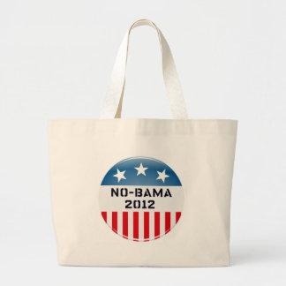 NO-BAMA 2012 ELECTION BUTTON PRINT CANVAS BAGS