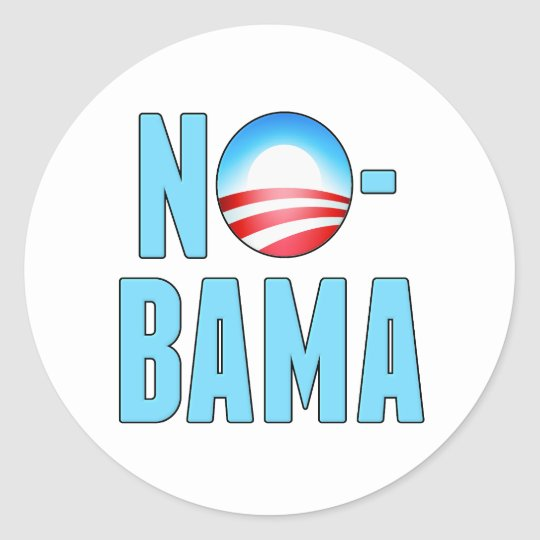 No-Bama Anti Obama Classic Round Sticker