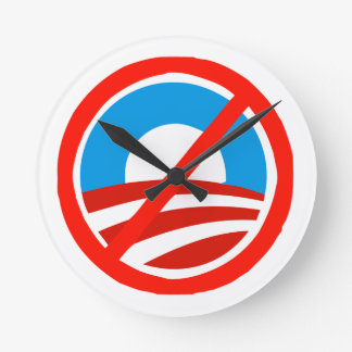 No Bama anti Obama logo Wall Clock
