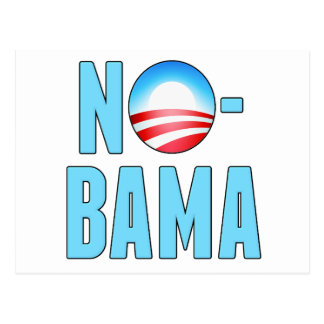 No-Bama Anti Obama Postcard