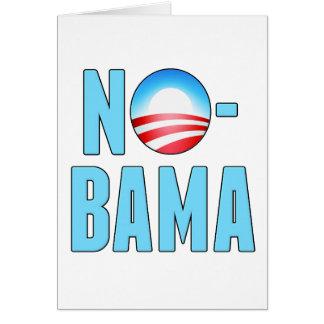 No-Bama Obama anti Tarjeta De Felicitación