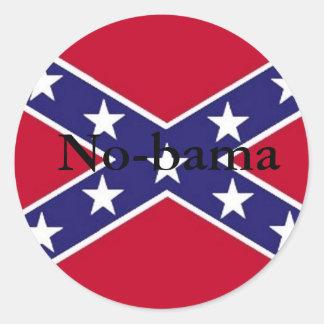 No-bama Round Stickers