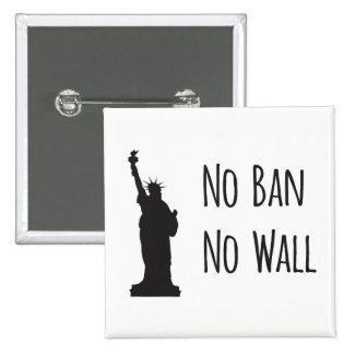 No Ban No Wall - Button