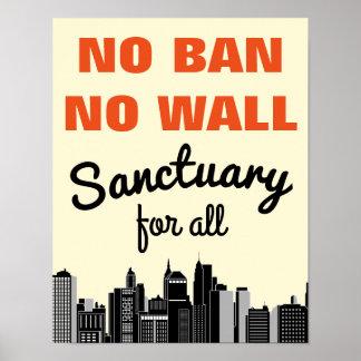 No Ban No Wall | Immigrant Ban Poster