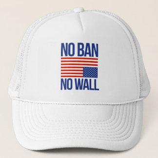NO BAN NO WALL - TRUCKER HAT