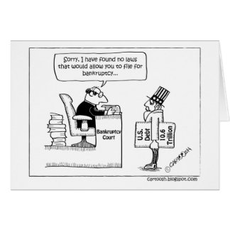 No Bankruptcy Filing for Uncle Sam Greeting Card