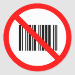No bar codes stickers