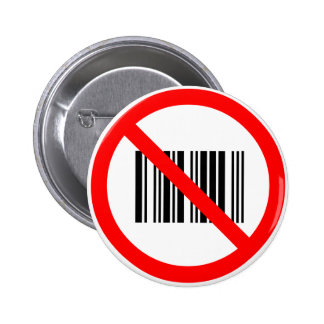 No barcodes pinback buttons