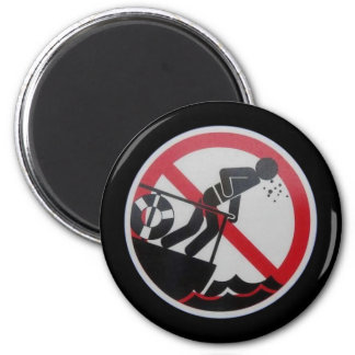 No Barfing Policy! 2 Inch Round Magnet