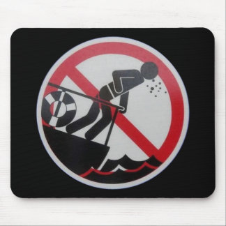 No Barfing Policy! Mouse Pad