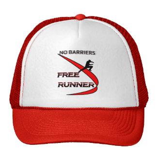 no barriers free runner trucker hat