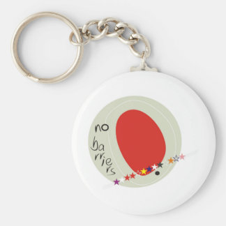 No barriers keychain