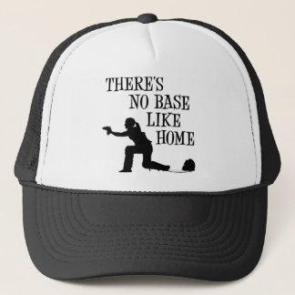 No Base Like Home, black Trucker Hat