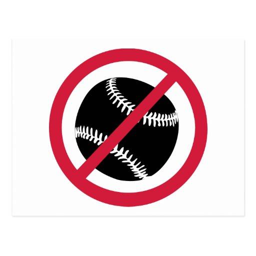 No baseball postcard