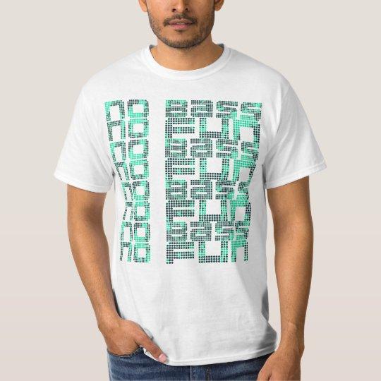 No Bass No Fun White Value Design T-Shirt