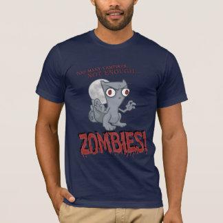 No bastante camisa espumosa de los zombis