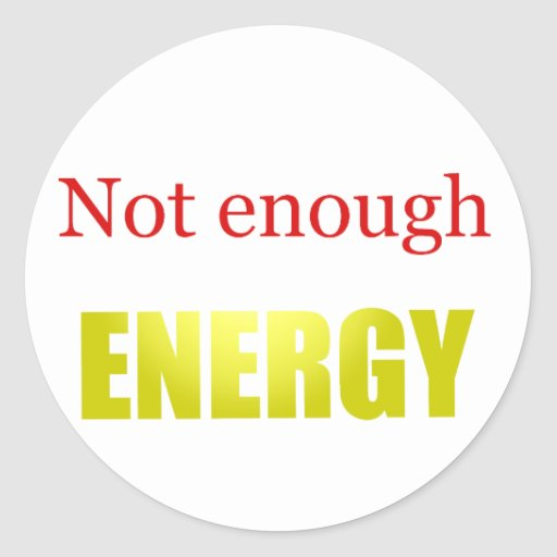 No bastante energía pegatina redonda
