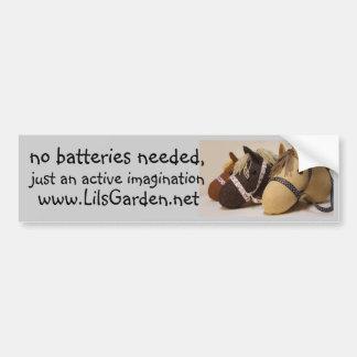no batteries needed bumper sticker