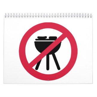 No BBQ barbecue Calendar