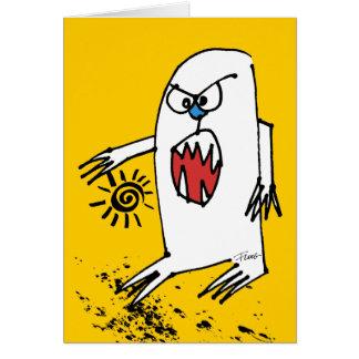 No Be Sparky Now Cartoon Monster Card
