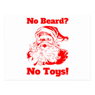 No Beard No Toys Postcard