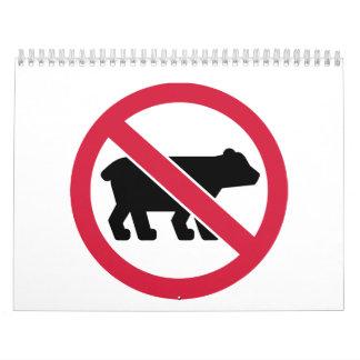 No bears calendar