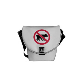 No bears courier bag