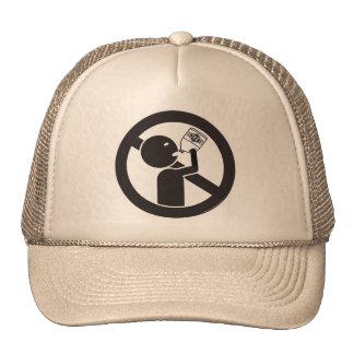 No beba el blanqueo gorras de camionero