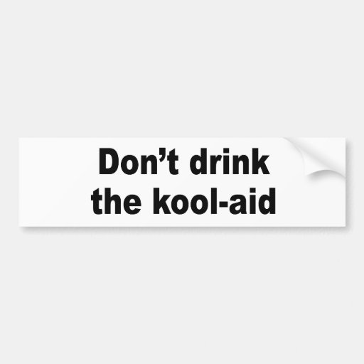 No beba la ayuda del kool pegatina para auto