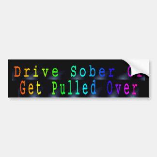 No beba y no conduzca pegatina de parachoque