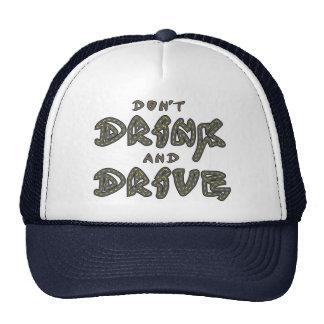 No beba y no conduzca el gorra