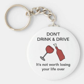 No beba y no conduzca el llavero del vino
