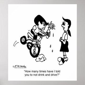 No beba y no conduzca en un Trike Impresiones