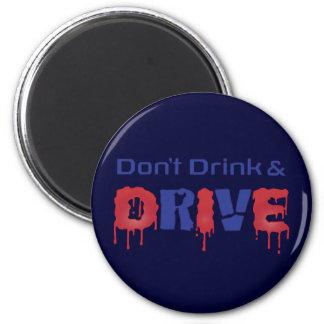 No beba y no conduzca imán redondo 5 cm