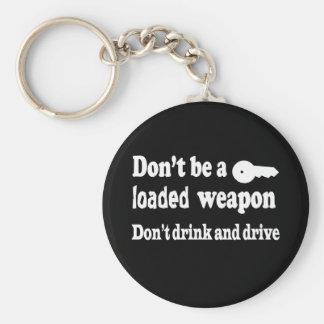 No beba y no conduzca llavero redondo tipo pin