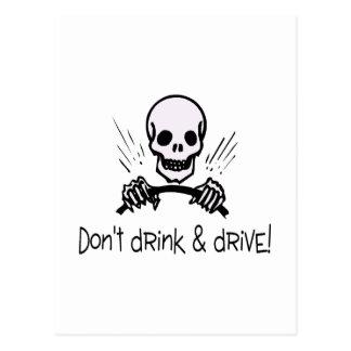 No beba y no conduzca postal