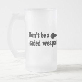 No beba y no conduzca taza de cristal