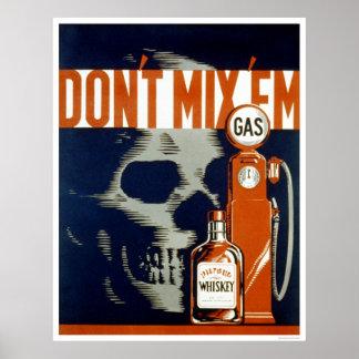 No beba y no conduzca WPA 1937 Poster